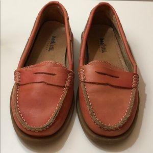 Dusty Red Bed Stu loafers